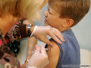 Nathan Stein, 7, participated in a clinical trial for the H1N1 vaccine over the summer.