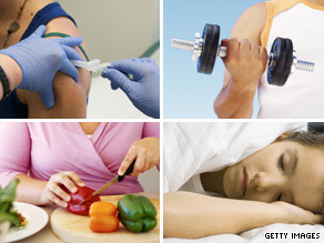 Besides getting vaccinated, there are other ways to boost your immune system to ward off being sick.