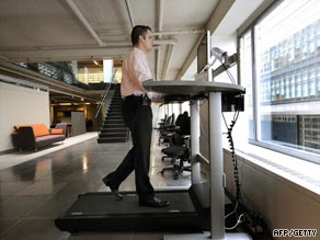 The &quot;Walkstation&quot; may soon let employees burn extra calories while replying to emails from the boss.