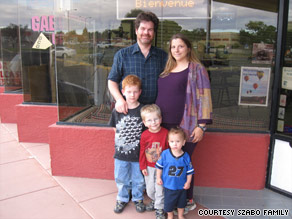 Jeff Szabo was there when Joy gave birth to (from left) Gabriel, Michael and Daniel, but will probably miss No. 4.