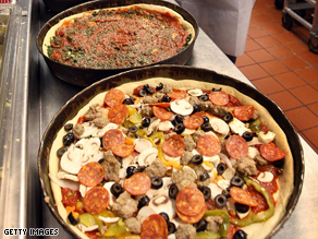 Pizza is not normally known for its health benefits; thick, cheesy toppings push up the calorie count.