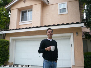 Given the economic downturn, Dan Kostrikin, 44, is searching for his first roommate since college.