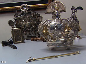 "The antiques include a rare U.S.-made silver ""Torah Crown""  and a ""Torah Pointer"" possibly from the 1780s."