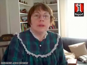 Jean Lindsay records a video telling people to get out of their nightgowns and look for work.