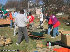 Atlanta Community ToolBank volunteers build playground, and relationships, in their community.