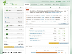 Web sites like Mint.com are attracting young adults trying to get a handle on their personal finances.
