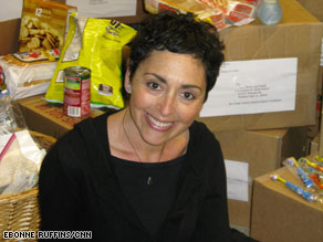 Pam Koner is combating hunger by connecting sponsor and recipient families.