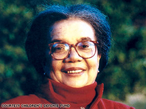 Marian Wright Edelman says many black babies enter the world with multiple strikes against them.