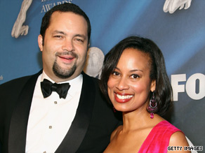 NAACP President Benjamin Jealous and wife Lia Epperson Jealous at the Image Awards in February.