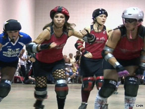 Beth Hollis says people don't think she looks like a librarian or a roller derby competitor.