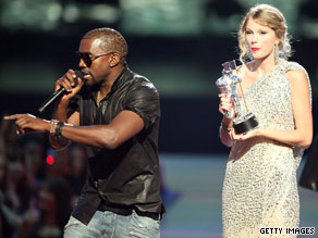 Kanye West's behavior at the MTV Video Music Awards was widely condemned.