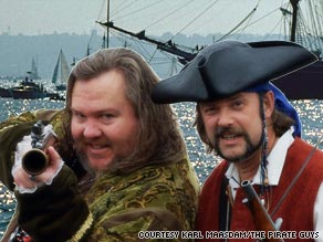 Mark Summers, aka Cap'n Slappy, left, and John Baur, known as Ol' Chumbucket, created Talk Like a Pirate Day.