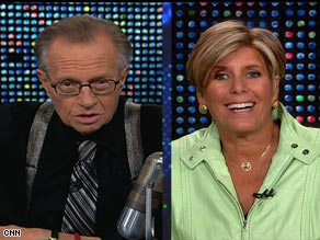 CNN's Larry King talked with Suze Orman on Thursday about Barack Obama's proposed stimulus package.