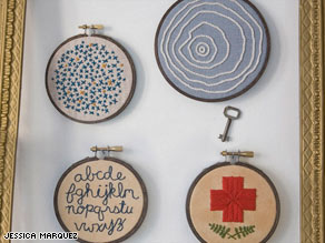 Skill with a needle and embroidery thread has helped Jessica Marquez with her finances.
