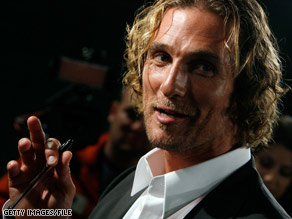 Actor Matthew McConaughey reportedly doesn't wear deodorant.