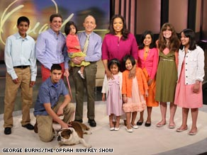 Larry Shine and his expanded family visited Oprah Winfrey on her show.