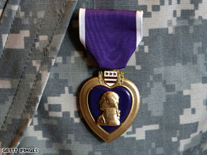 Soldiers suffering from post-traumatic stress disorder will not receive the Purple Heart, the Pentagon says.