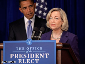 Barack Obama has selected Nancy Killefer to be his chief performance officer.