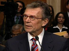 Health and Human Services Secretary-designate Tom Daschle testifies at his confirmation hearings earlier this month.
