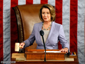 Speaker Nancy Pelosi says the House will not go on a break until an economic recovery package is passed.
