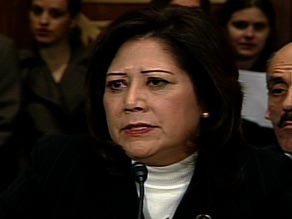 Labor secretary-designate Hilda Solis appears before a Senate committee Friday.
