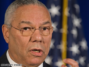 """Let's come forward to serve our fellow  citizens and to serve our nation,"" Colin Powell said Friday."