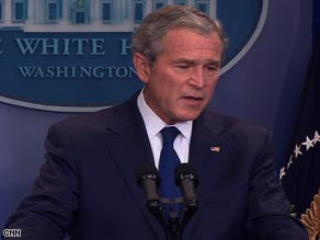 President Bush addresses reporters at the White House on Monday in his final news conference.