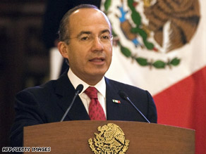 Mexican President Felipe Calderon discussed immigration and trade issues with Barack Obama.