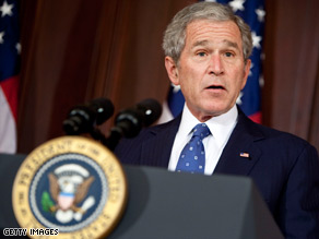 Most Americans are happy President Bush is leaving the White House.