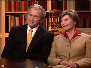 President George Bush and First Lady Laura Bush discuss their legacy in the White House.