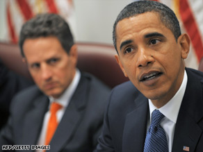 Barack Obama's team says Tim Geithner, left, quickly addressed the mistakes he made.