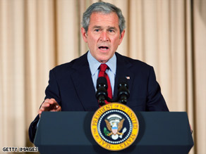 President Bush touts what he considers his foreign policy achievements Thursday at the State Department.