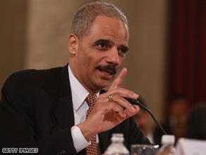 Attorney General-designate Eric Holder told senators Thursday that he learned from the Rich pardon incident.