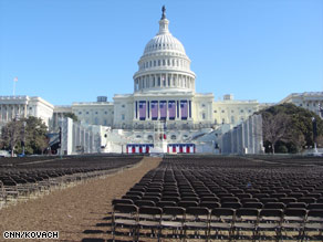 The inaugural committee will set up 28,000 chairs for ticket holders to watch Barack Obama's swearing-in.