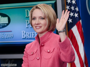 Dana Perino said goodbye to the White House press corps at her last briefing as White House spokeswoman Friday.