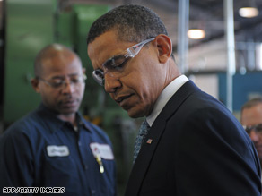 President-elect Barack Obama tours a factory in Bedford Heights, Ohio.