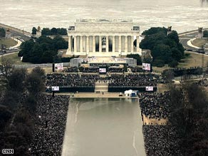 Thousands gather Sunday afternoon on the National Mall in Washington.