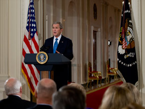 President Bush gives his farewell address to the nation on Thursday at the White House.