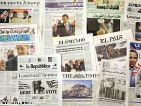 The world&#039;s newspapers marked Barack Obama&#039;s election win. Now, world governments want him to act.