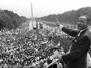 President-elect Barack Obama addresses a roaring crowd in front of the Lincoln Memorial on Sunday.