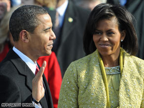 President Barack Obama and his wife, Michelle, are expected to attend all 10 official inaugural balls.
