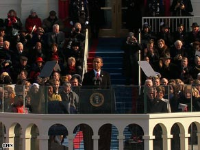 President Barack Obama told a crowd at the National Mall that America's challenges are real.