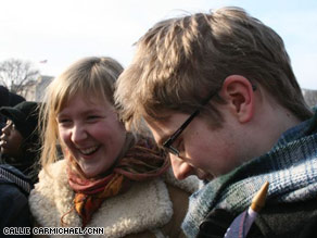Briton Simon Ginty called the Obama inauguration &quot;an international moment.&quot;