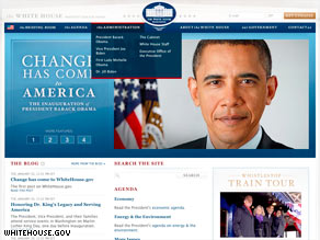 President Obama's official White House Web site launched during his swearing-in ceremony.