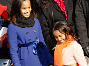 Barbara Bush, left, and Jenna Bush wrote an open letter to Obama's children in The Wall Street Journal.