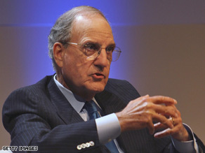 George Mitchell has previously served as a U.S. envoy to the Middle East and Northern Ireland.