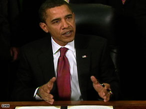 President Obama speaks Thursday as he signs the executive orders.
