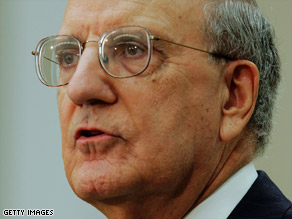 "Former Sen. George Mitchell's report on the Middle East became the basis of the ""road map"" to peace."