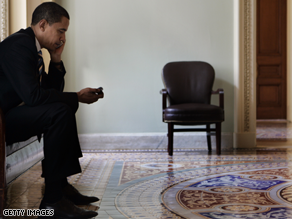 Obama was a self-confessed BlackBerry addict during his White House campaign.