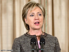 Secretary of State Hillary Clinton announces her new Middle East envoy on Thursday.